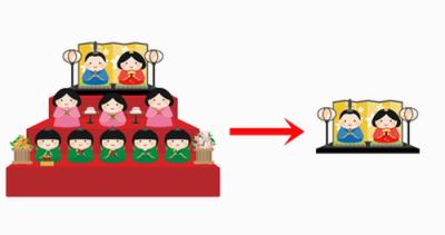 雛人形のコンパクト化