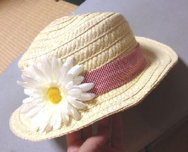 アイロン前の麦わら帽子